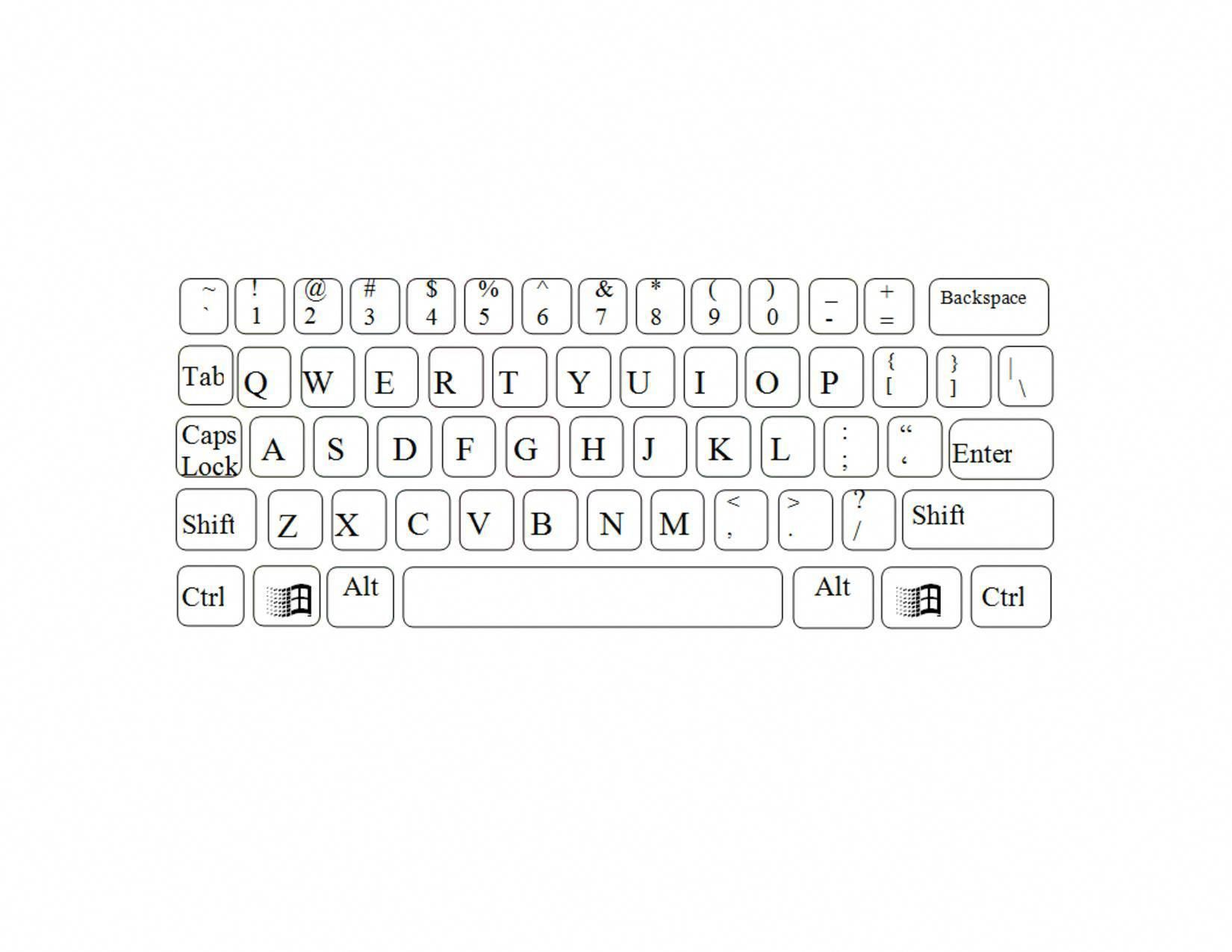 Printable Diagram printable-blank-keyboard-piano Printable ...