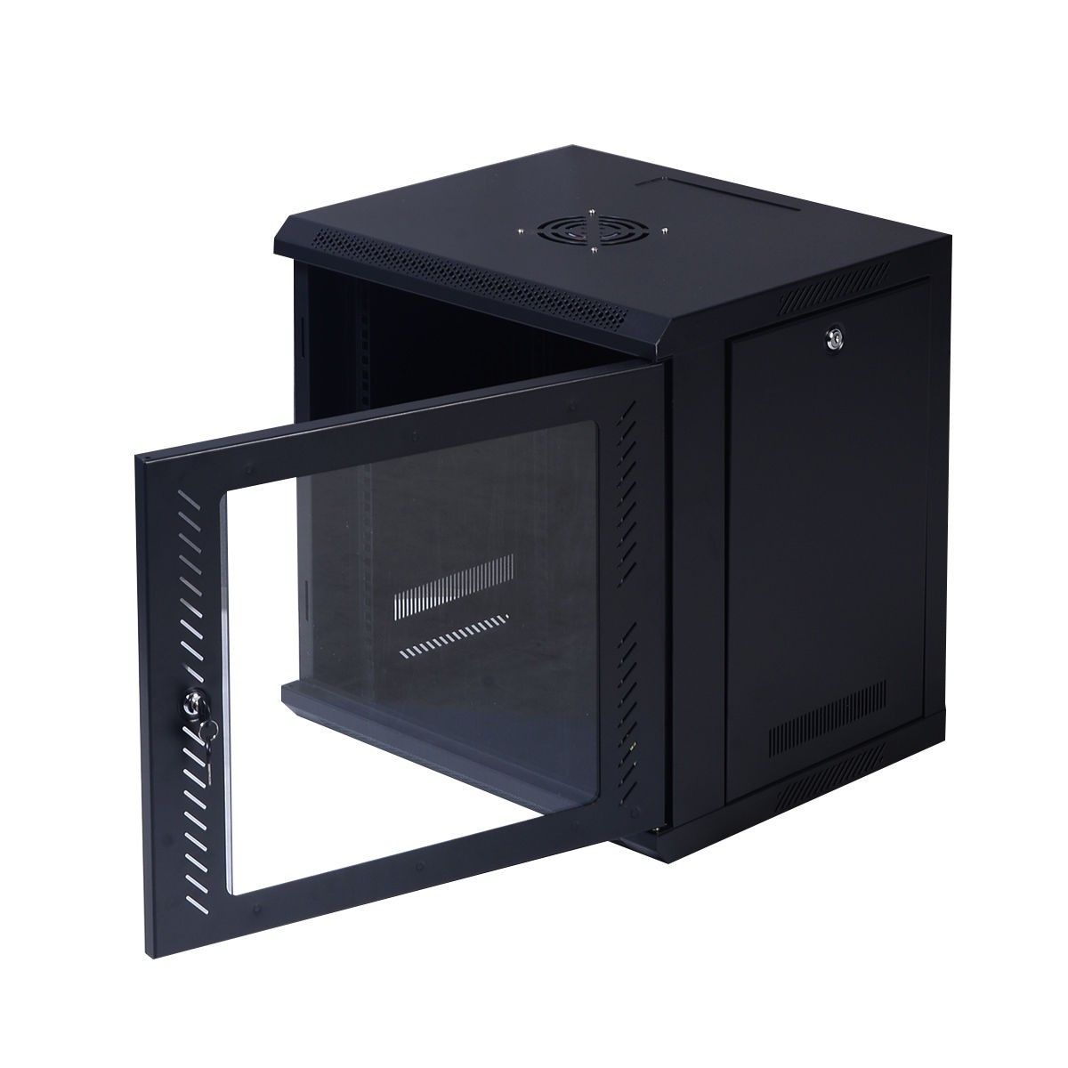 9u Wall Mount It Network Server Data Cabinet Enclosure Rack Glass Door Locking Glass Door Data Cabinet Locker Storage