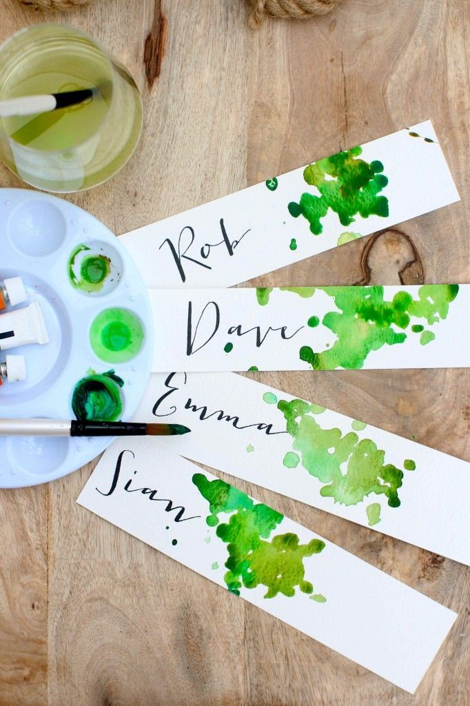 DIY Watercolor Place Cards Or Bout And Cors Tags Love This Idea Can Totally Customize It To Each Wedding Event