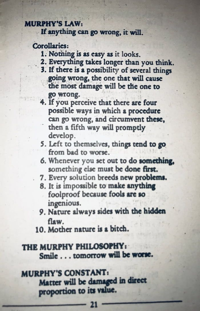 Every Solution Breeds New Problems -- A software devs living nightmare | Murphy law, Nightmare quotes, Words
