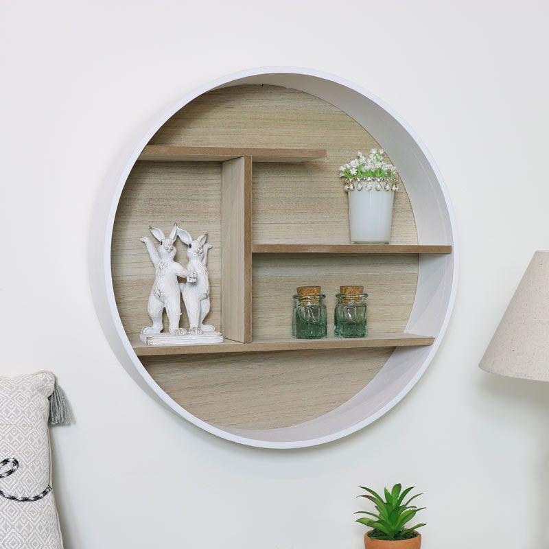 Scandinavian Decorideas: Round White Wooden Shelf Unit