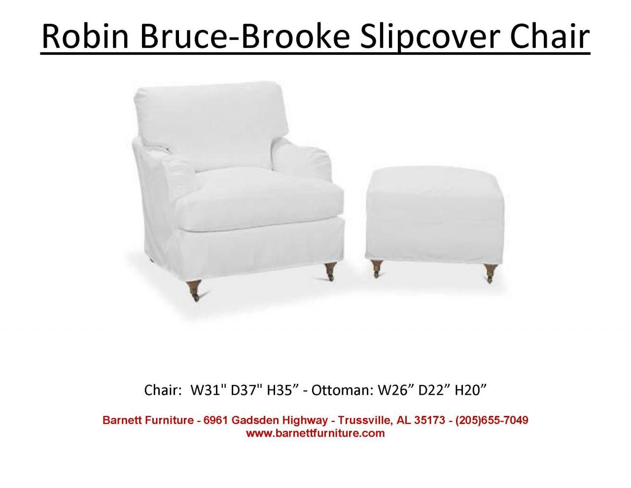 Robin Bruce Brooke Slipcover Chair You Choose The Fabric