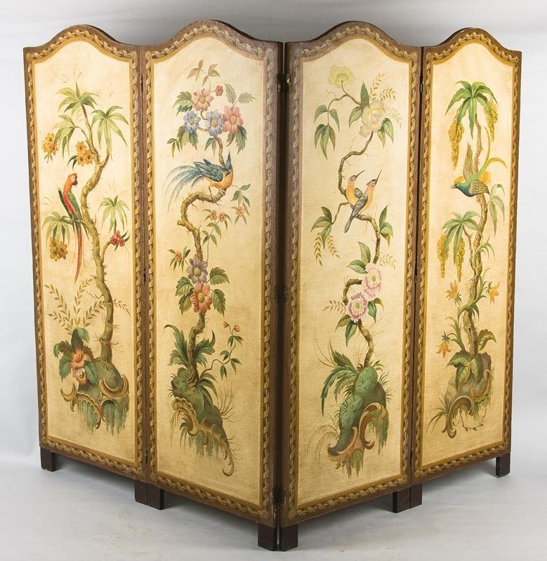 Baroque Folding Screen Folding Screen Room Screen Screen Painting