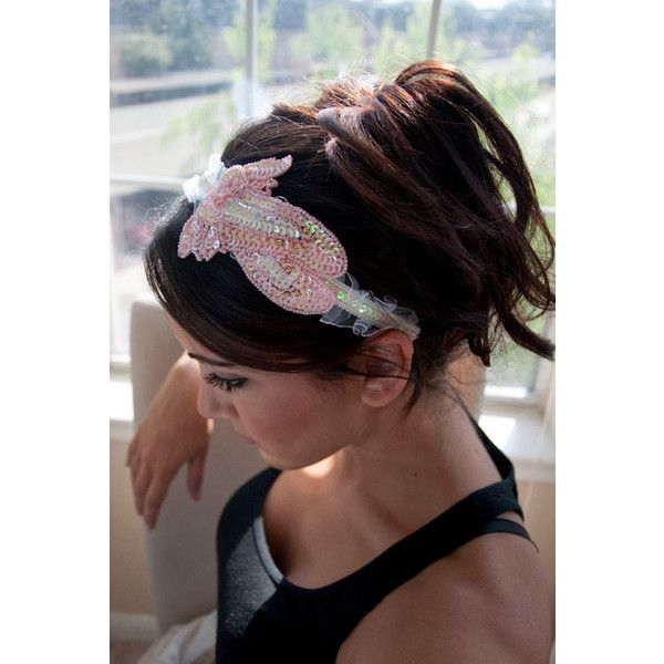 Ballerina Headband Dance Slippers Ballerina Headband ( 12) ❤ liked on  Polyvore featuring accessories dfa6fdd283a