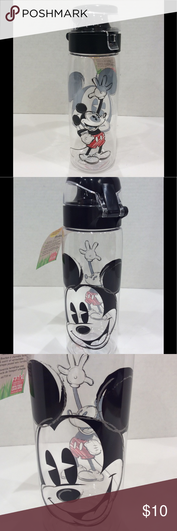 Mickey Mouse 174 Tritan Water Bottle 25oz Nwt With Images