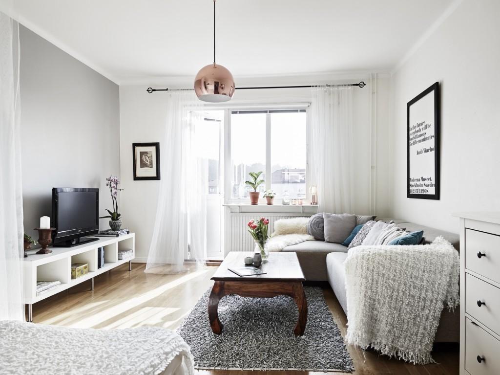 Ideas para aprovechar 35m2 aprovechado decorar tu casa for Decoracion estudios muy pequenos