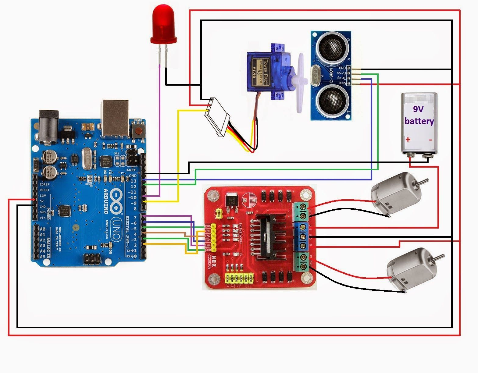 Arduino L298 Hcsr04 Radio Control In 2019 Pinterest Fm Transmitter Circuit Using Transistors Gadgetronicx Make A Robot Projects Rc