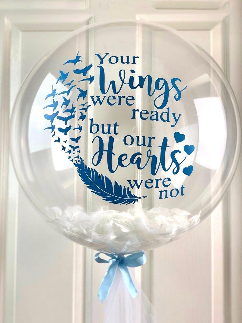 Bespoke memorial helium balloonsympathy gift in memory