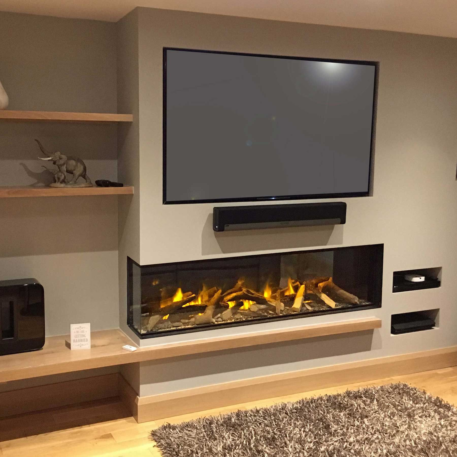 Evonic Fires E1800gf2 Hole In The Wall Electric Fire Modern