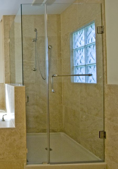 Showers with solid surface floors can have a better feel on your ...