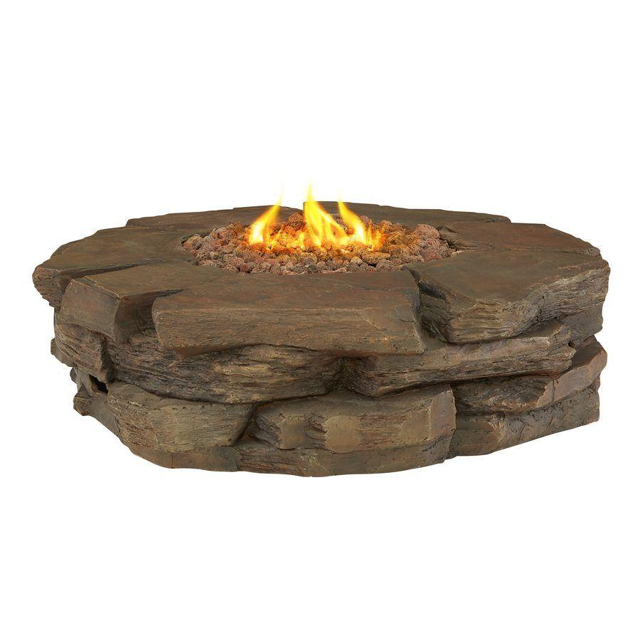 Shop Garden Treasures 50 000 Btu Stacked Stone Liquid Propane Fire