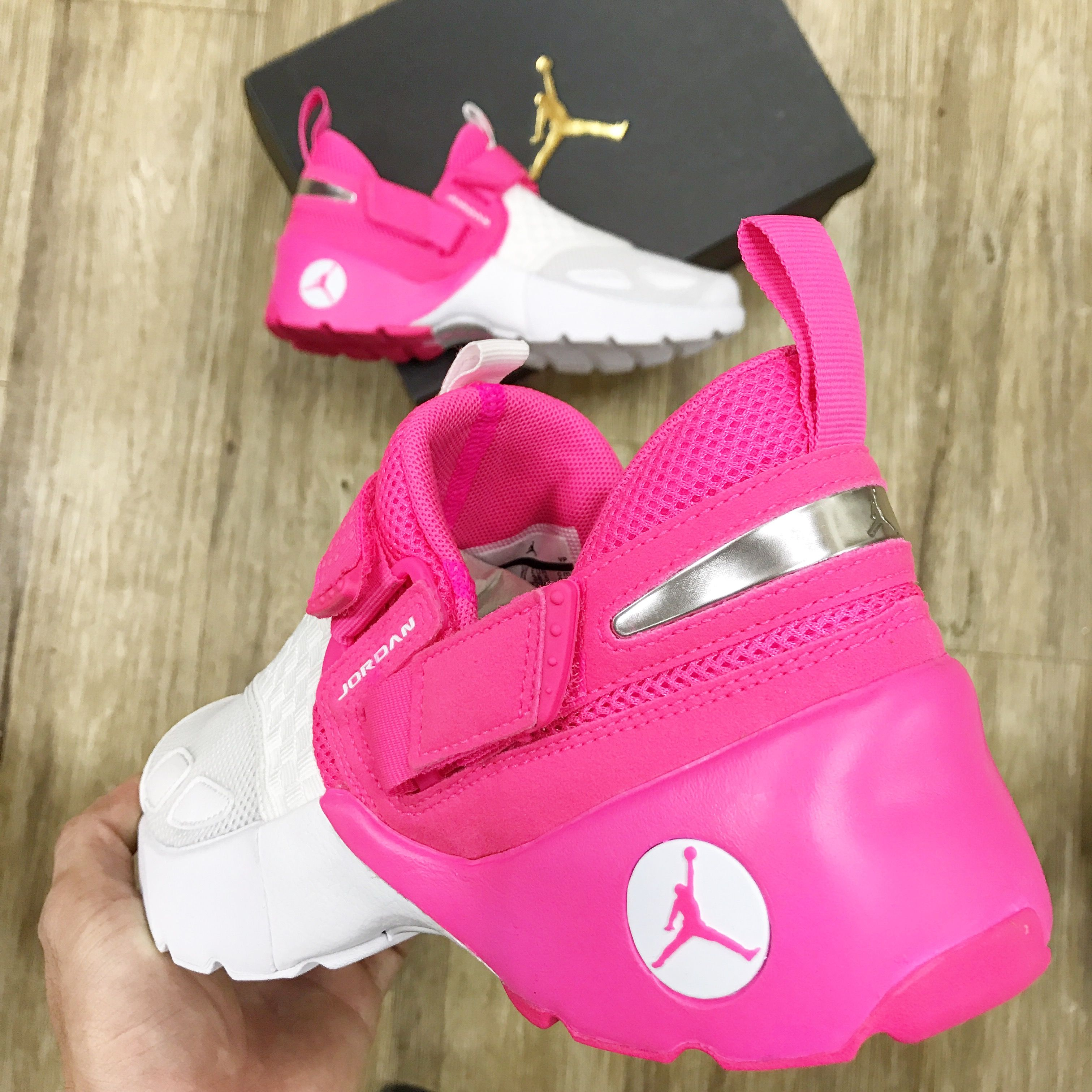 6a8aa2b35d4a Girls can have the very sweet summer with this hyper pink trimmer. -- Nike  Jordan Trunner LX GS