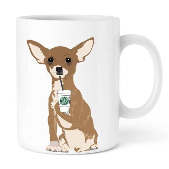 Personalized mug cup, Starbucks Mug chihuahua, Animal Mug Create your custom Mug Tea Cup #custommugs