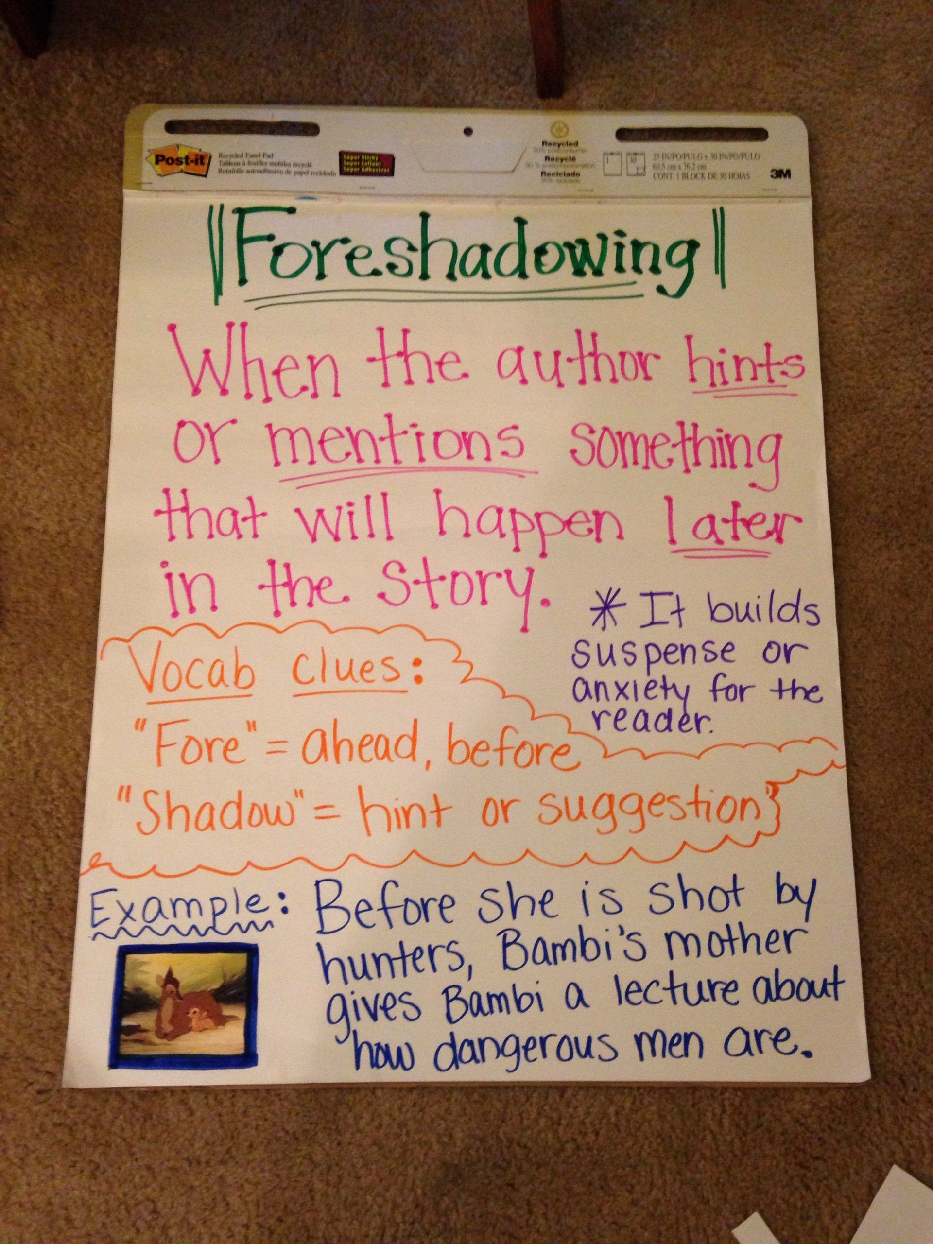 Foreshadowing Worksheet Middle School foreshadowing Anchor Chart Can Work  Backwards to Determine   Reading anchor charts [ 2560 x 1920 Pixel ]