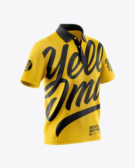 Download Men S Polo Mockup Half Side View In Apparel Mockups On Yellow Images Object Mockups Clothing Mockup Shirt Mockup Design Mockup Free