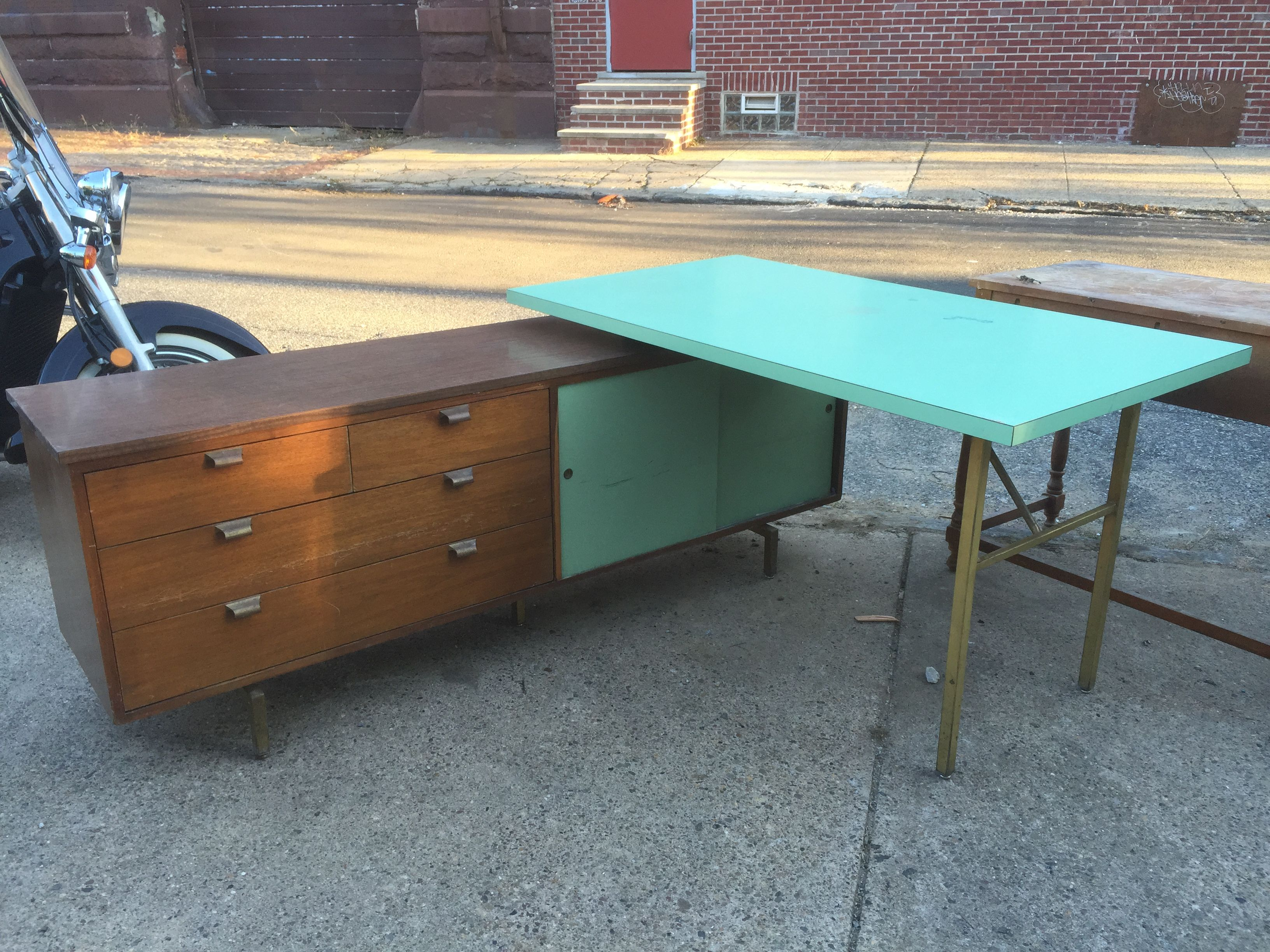 Delightful Salvaged This L Shaped Desk/cabinet Combo From Going To The Dump. Love