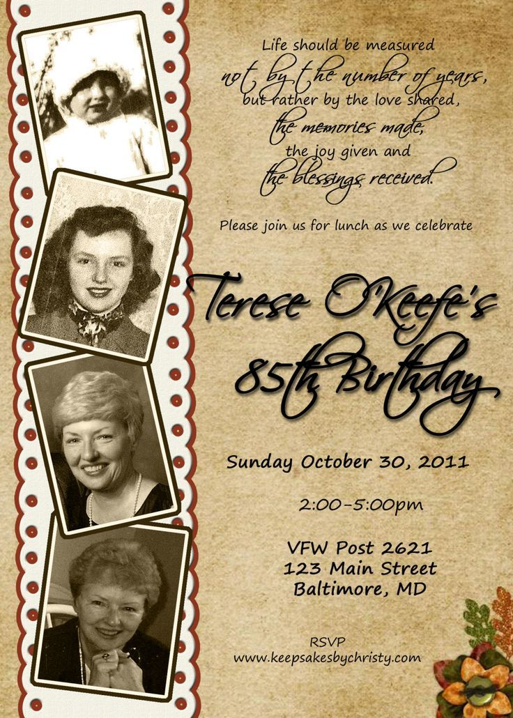 Image result for 70th birthday invitations for her | Invitations ...