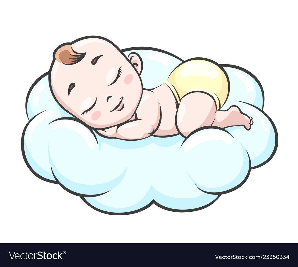 15+ Cute Sleeping Baby Clipart
