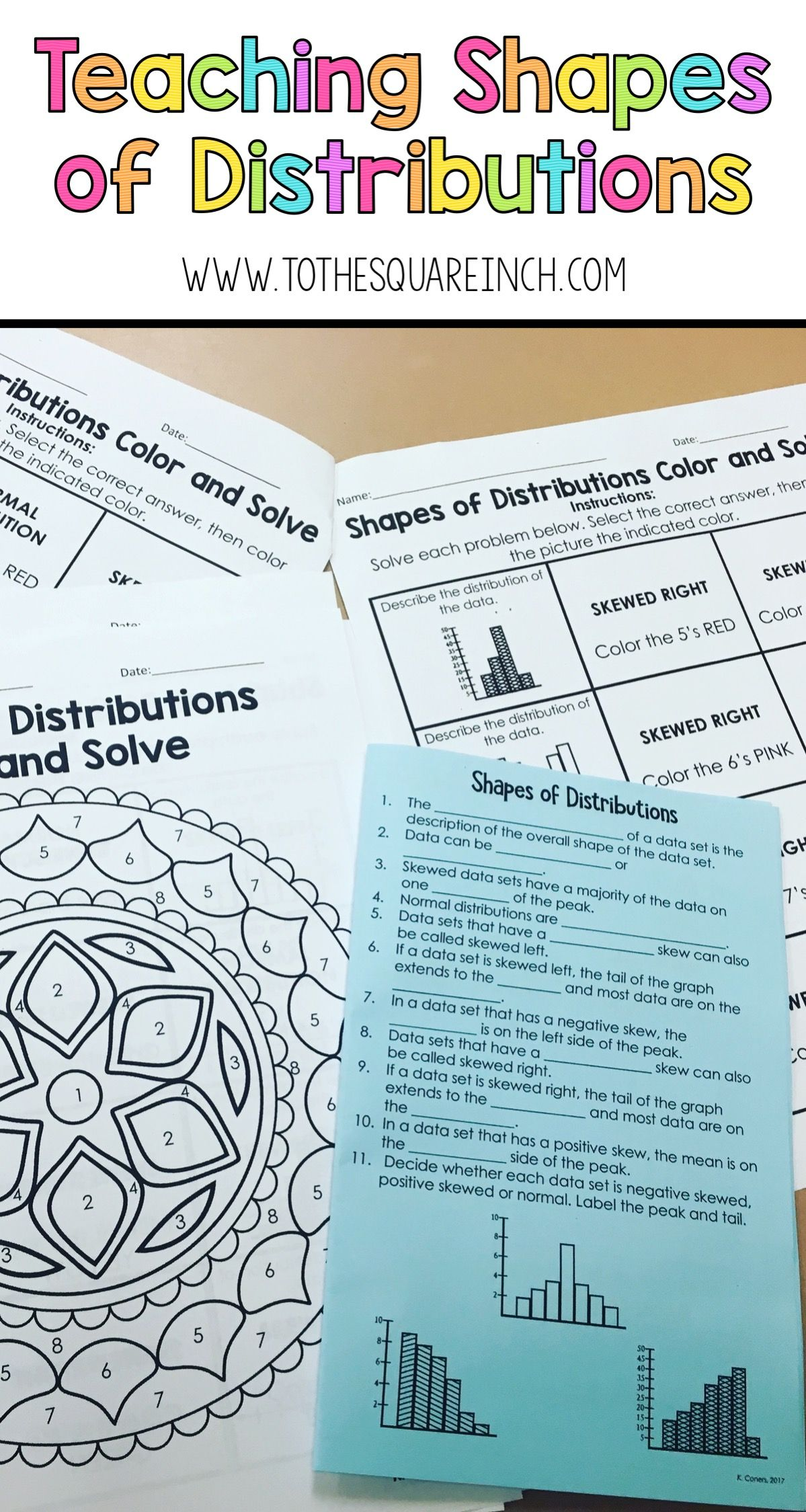 Teaching Shapes Of Distributions