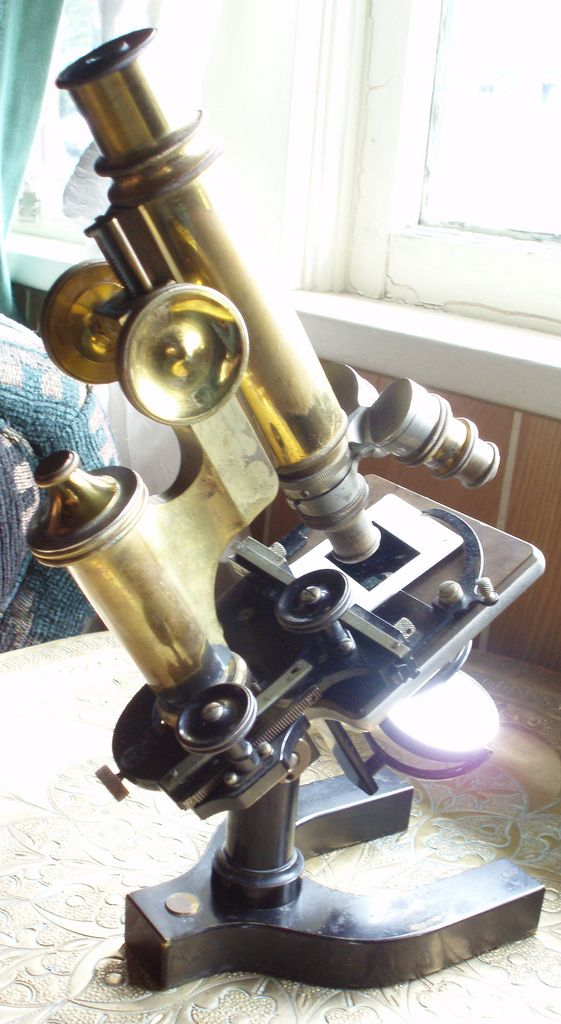 IT'S POSSIBLE to get my dream microscope, and to play around with older models for my imaging art.1899 Bausch & Lomb Microscope by blackthorne56, via Flickr