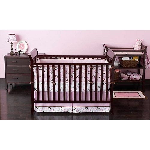 Delightful BSF Baby Sleigh Crib, Changing Table And Clothing Organizer, Espresso