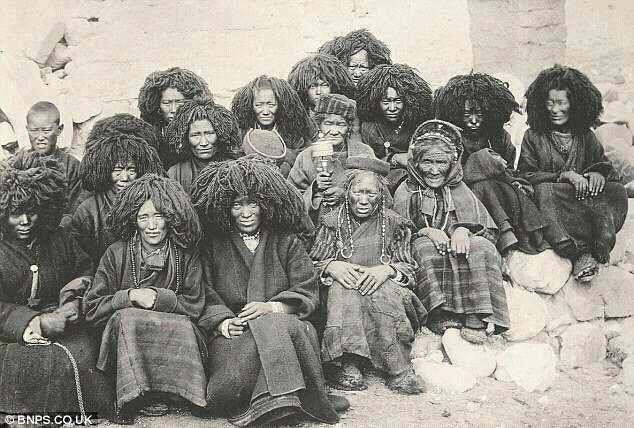 about 35,000 B.C. a group of these African Chinese, known as the Jomon, entered Japan, and became 1st humans to inhabit Japanese Islands. later, another group, the Ainu, followed. oddly Indians were not part of this group. today, their genes can be found in 40% of modern Japanese, as well as Mongolians and Tibetans