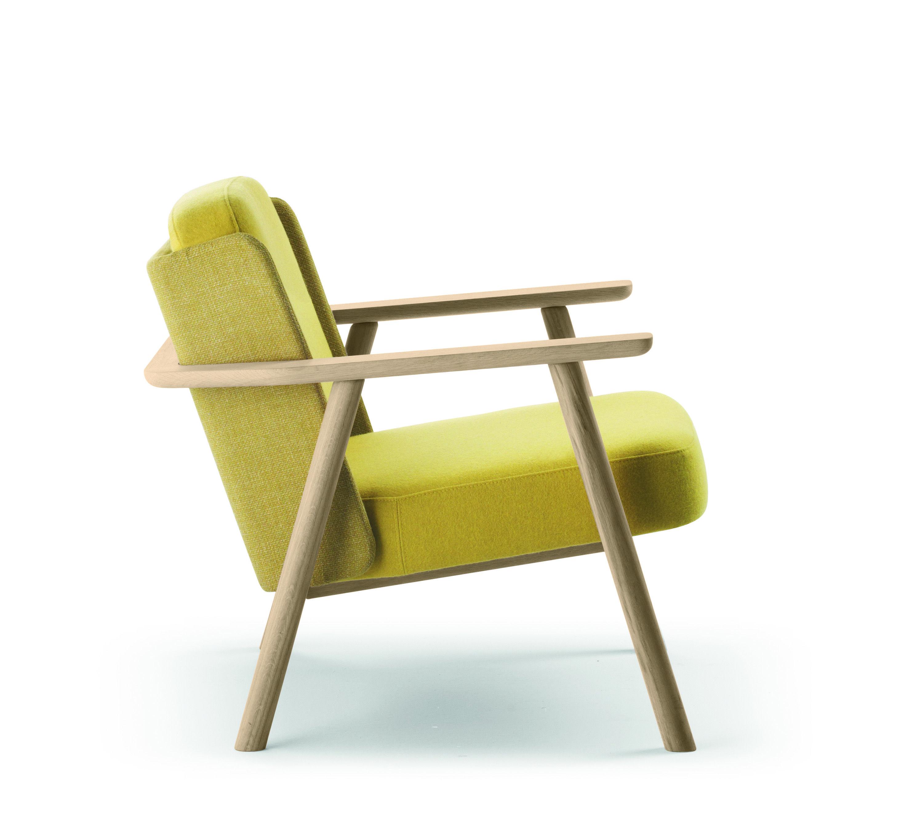 Petit Fauteuil Rembourré En Tissu Avec Accoudoirs Collection Lasai - Fauteuil salon ergonomique
