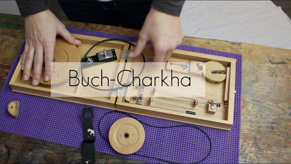 Spinnen Mit Der Buch Charkha Chantimanou Handspinnerey By