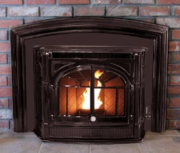 Enviro Empress Pellet Insert In Majolica Brown Pellet Stove Wood Burning Fireplace Inserts Stove