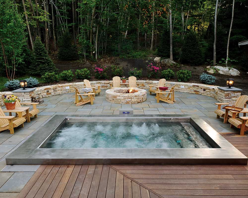 47 Irresistible hot tub spa designs for your backyard | Spa design ...