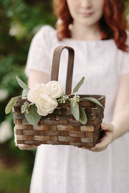 HANDMADE Wicker Display  Basket,Wedding,Flower present,Gift basket
