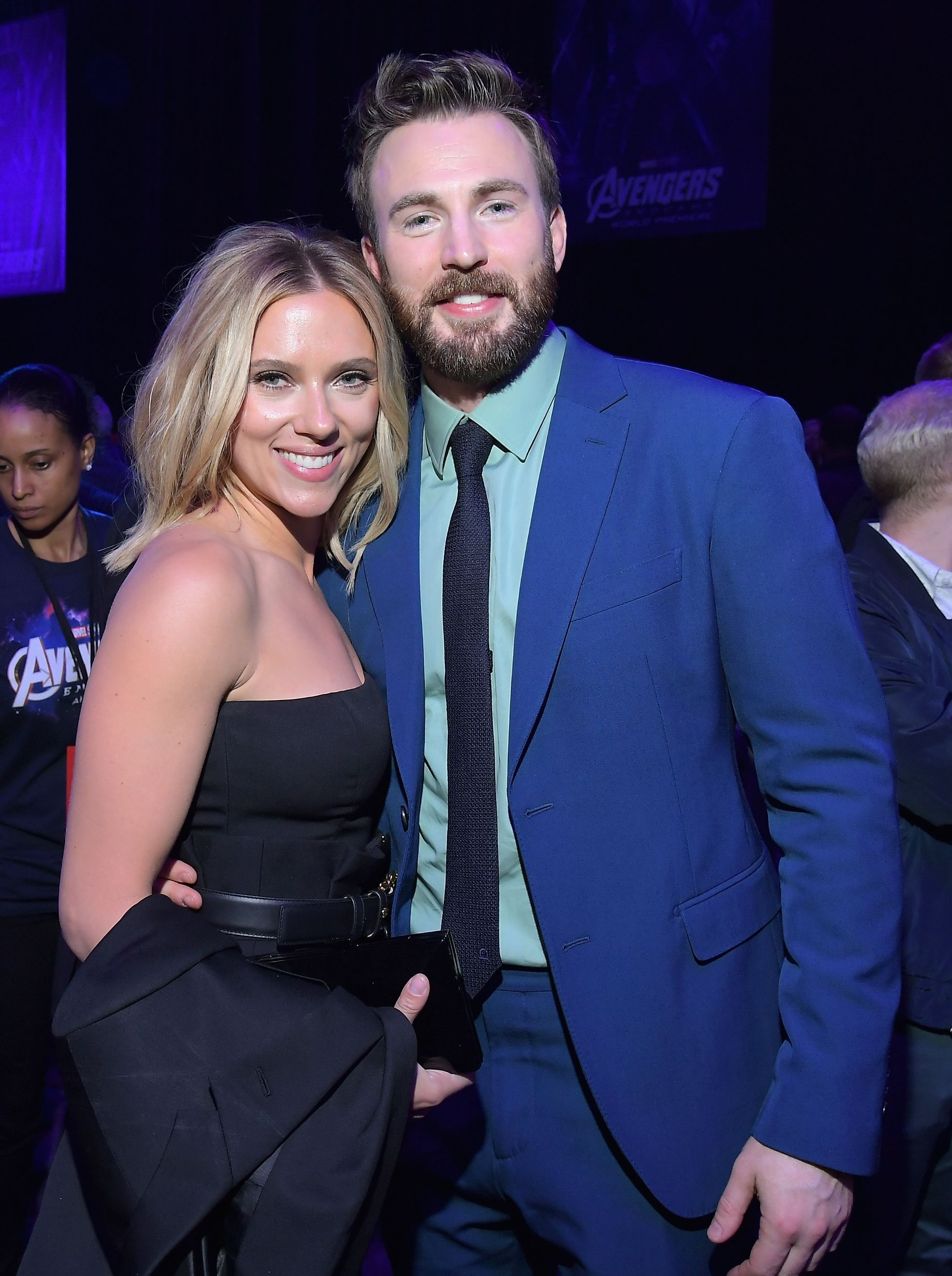 Scarlett Johansson And Chris Evans At The Avengers Endgame Movie Premiere After Part Chris Evans Scarlett Johansson Chris Evans Scarlett Johansson Hairstyle