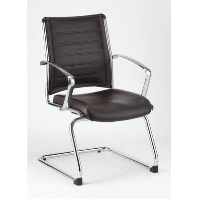 Upper Square Moriaty Leather Guest Chair Contemporary Office