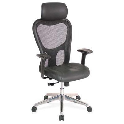 lorell high back executive leather office chair with arms headrest rh pinterest co uk