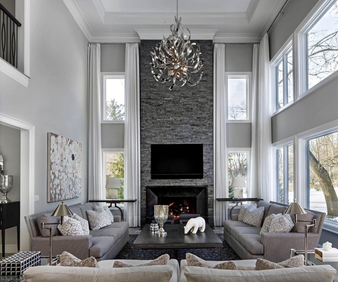 99 Beautiful White And Grey Living Room Interior: Luxury Grey Living Room Decor