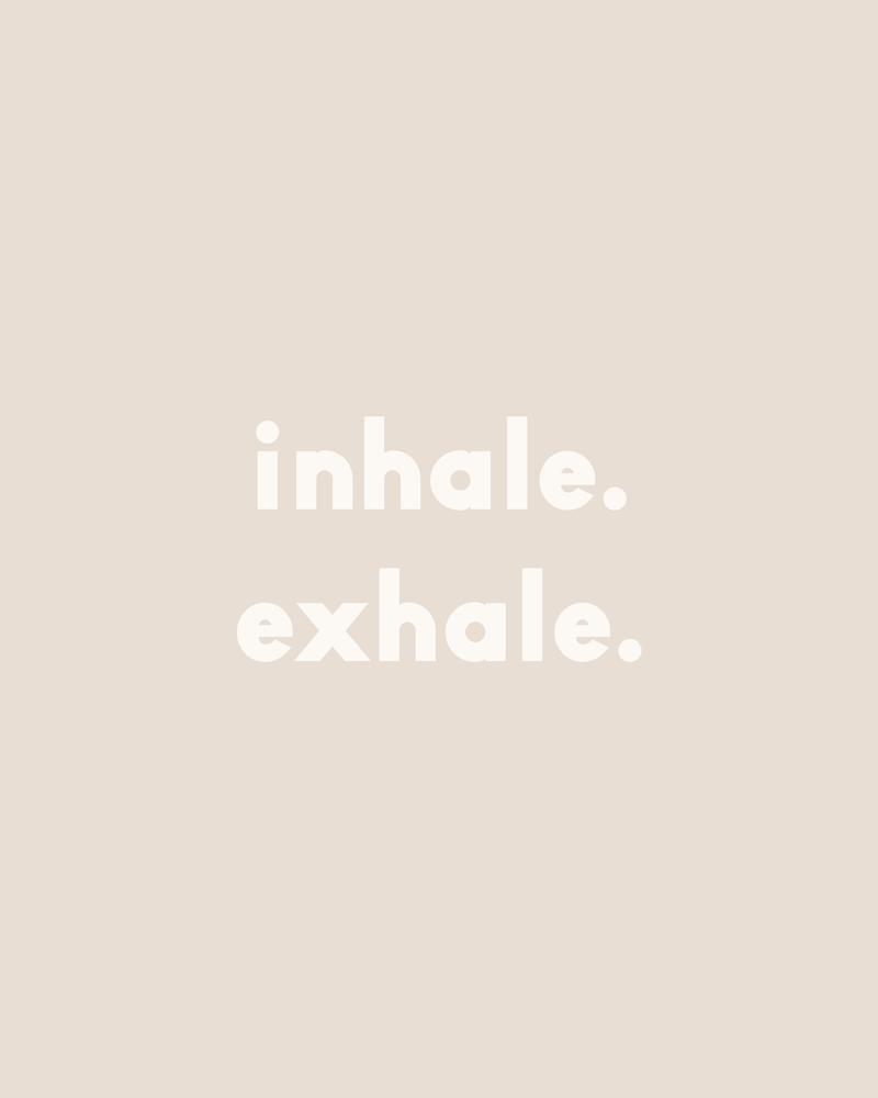 inhale exhale –neutral Framed Art Print by Urban Wild Studio Supply