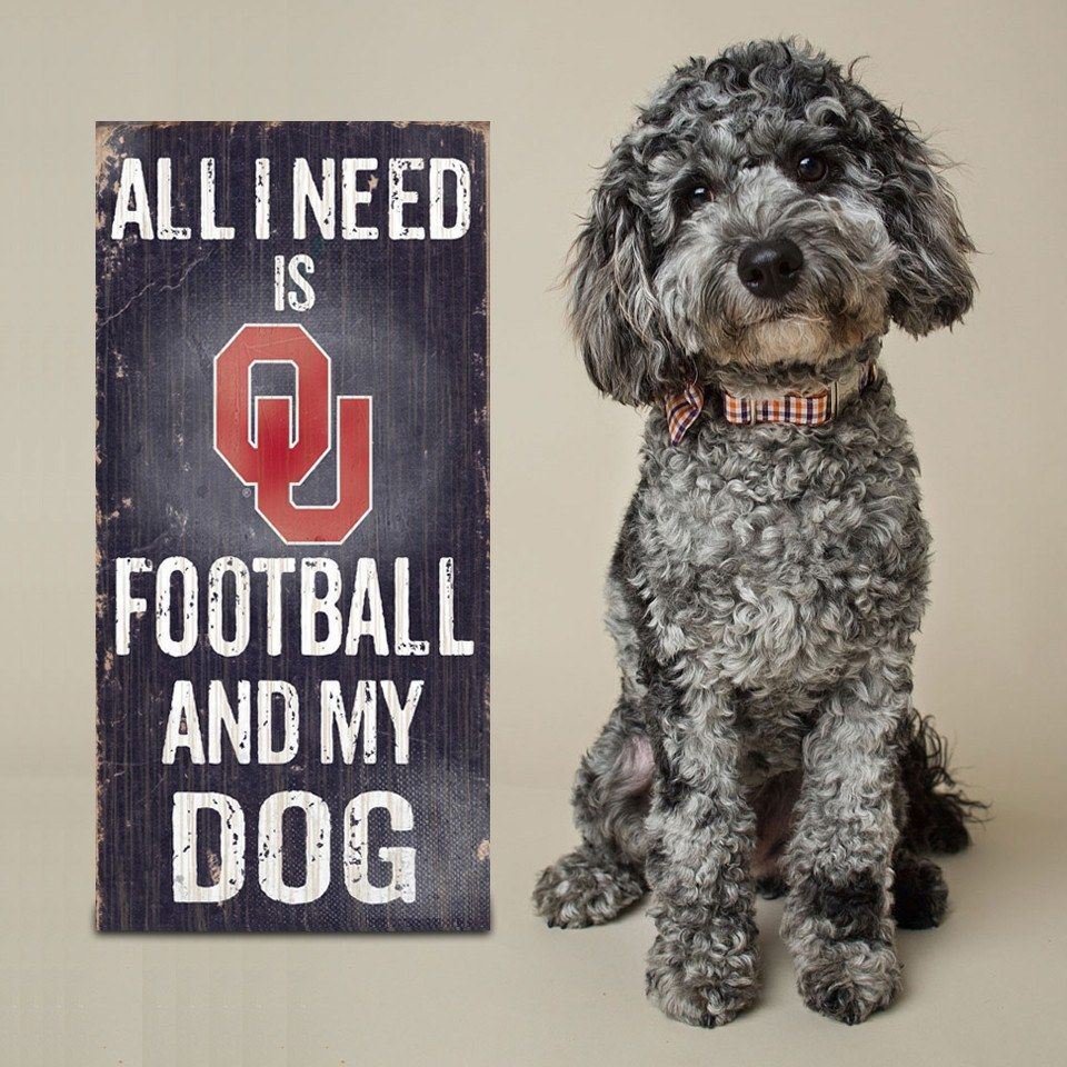 Officially Licensed Oklahoma Football and Dog Sign