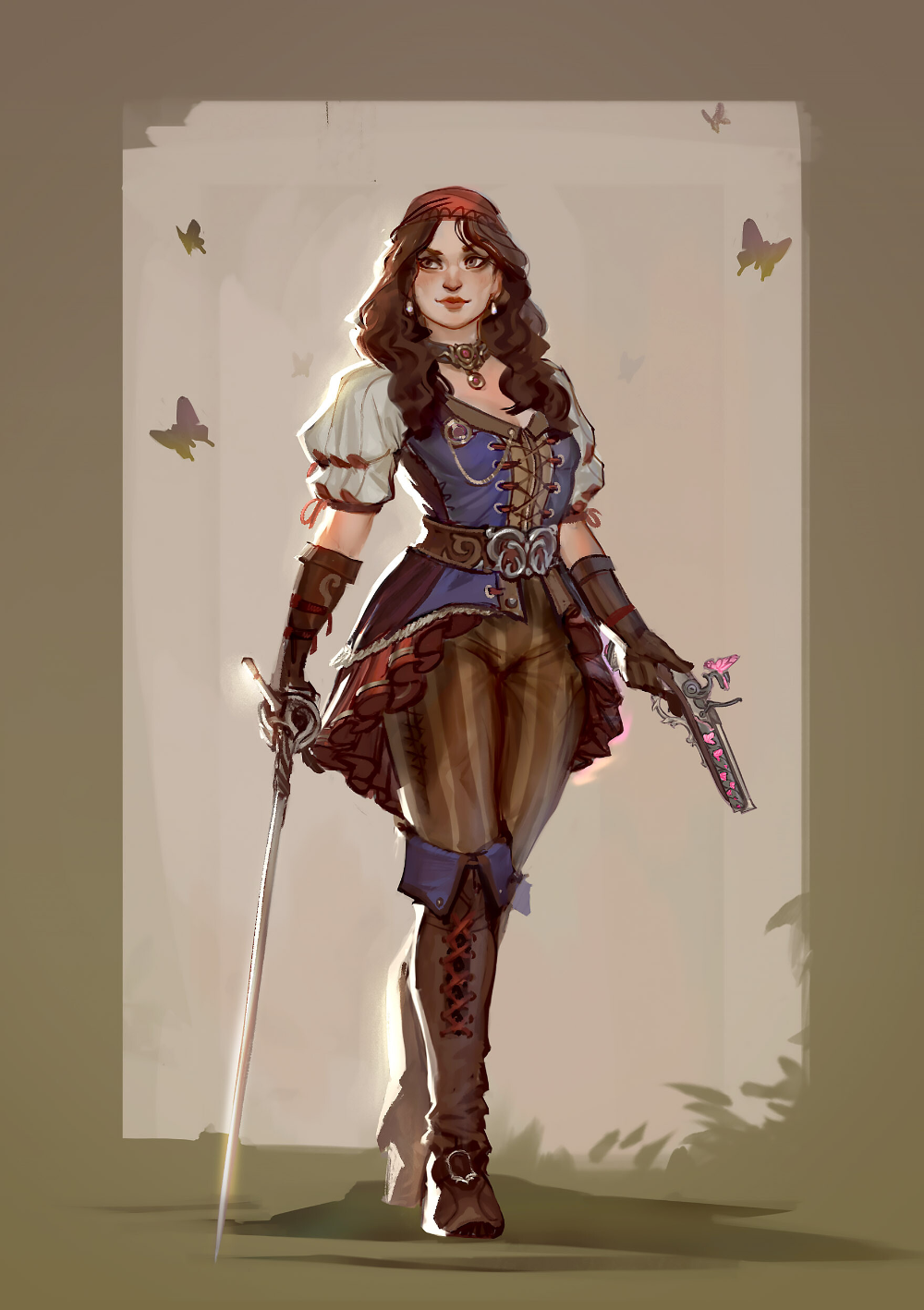 Tabletop RPG - commissioned player characters, Alexandre Coadou