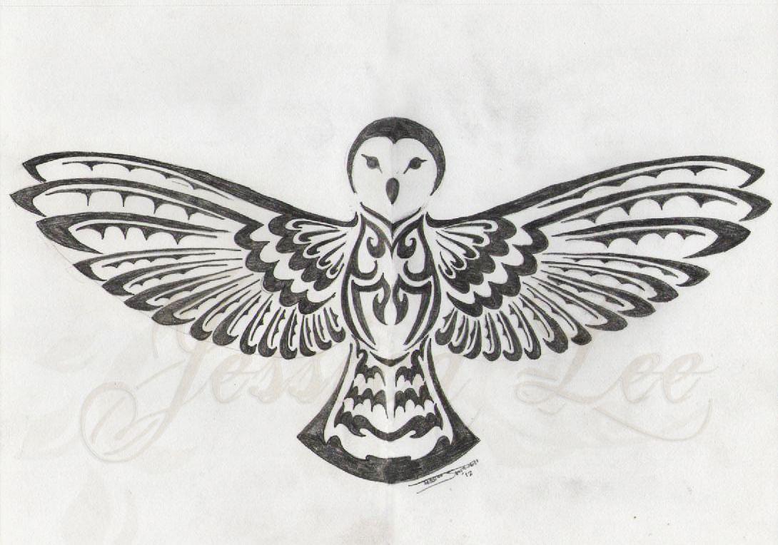 Tribal Barn Owl By Daftopia On Deviantart Owl Tattoo Design Tribal Owl Tattoos Barn Owl Tattoo
