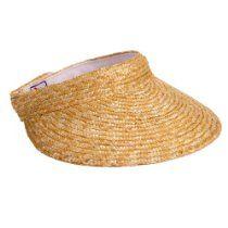 059797b44 Straw Braid Large Brim Sun Visor Hat in Natural   Accessories And ...