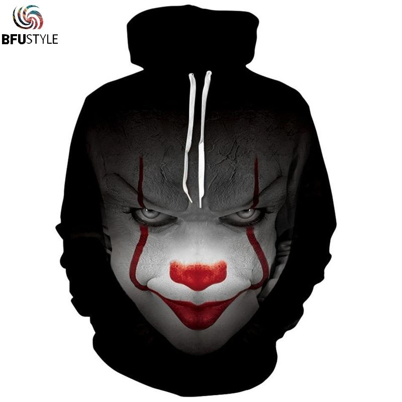 Pennywise 3D Men Women Long Sleeve Hoodie   Price   36.45   FREE Shipping      3dhoodie 9f64688714