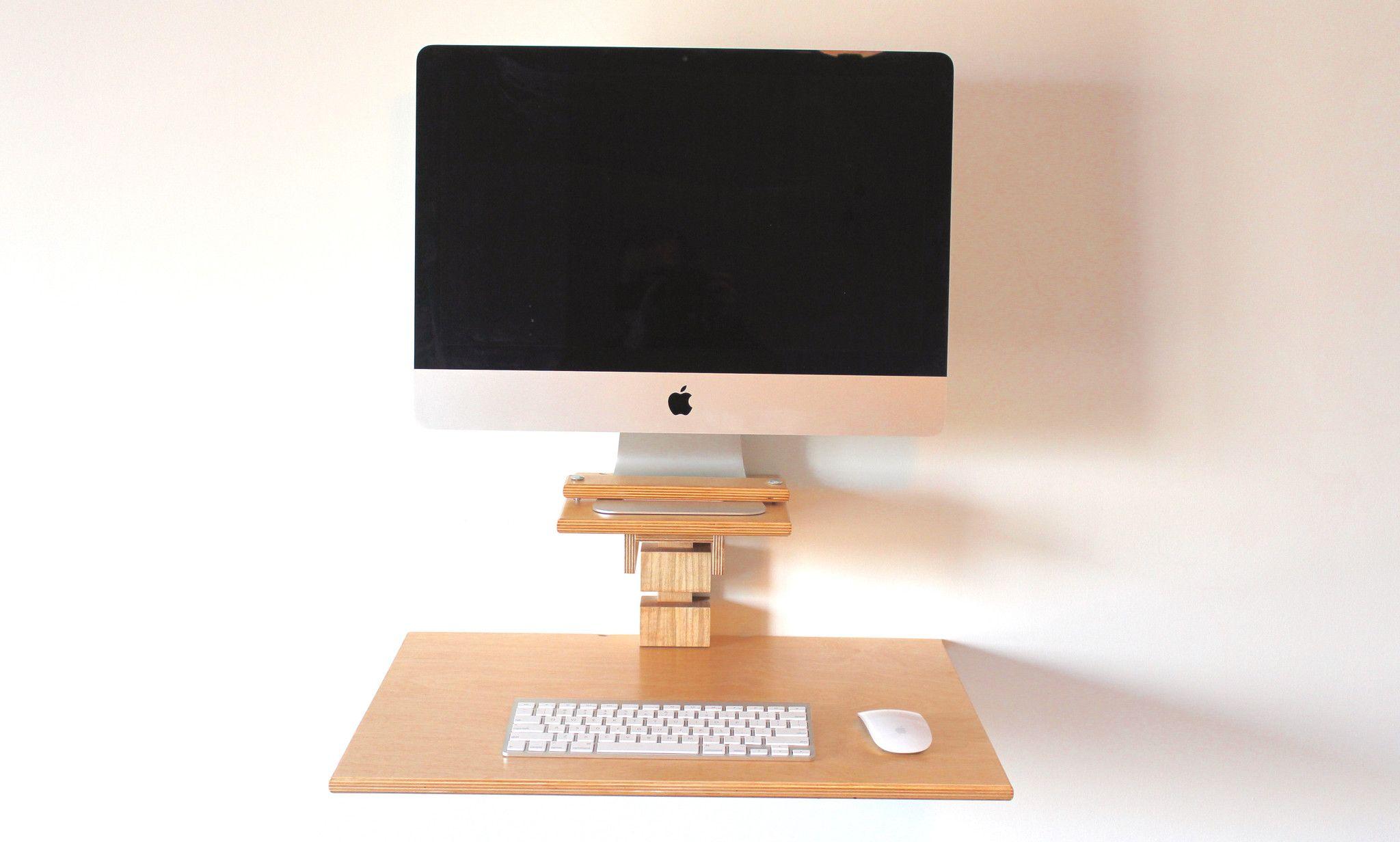 Wall Mounted Standing Desk Imac Model Imac Imac Desk Standing Desk