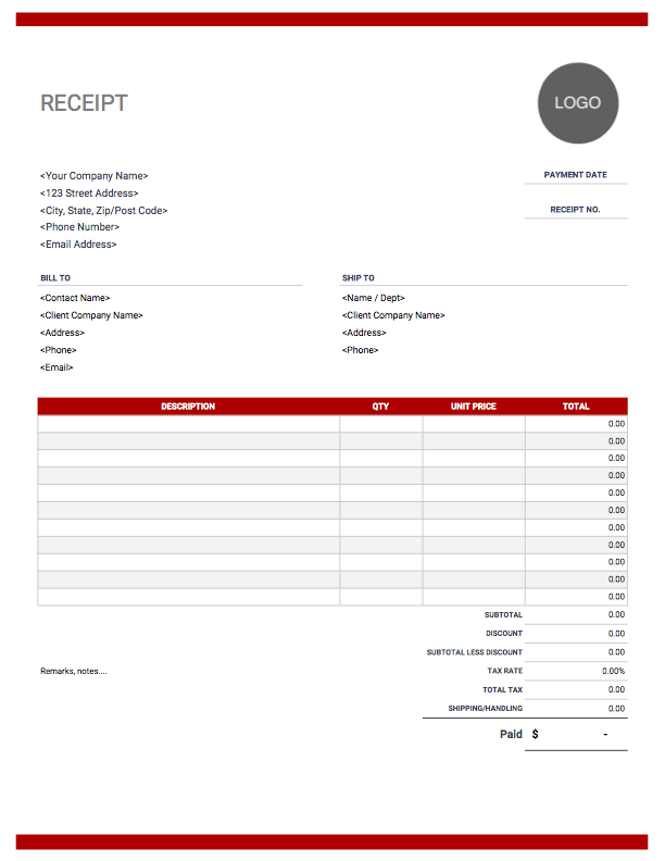 Receipt Template Free To Download From Invoice Simple Invoice Template Word Estimate Template Invoice Template