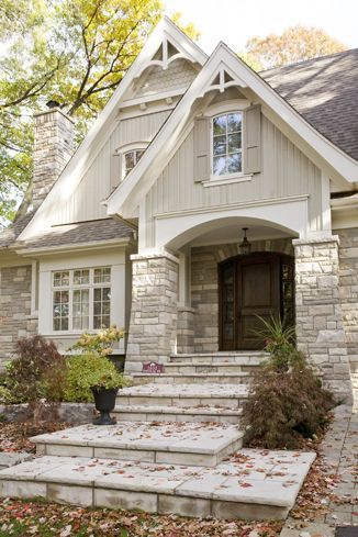 Exterior rock for houses great adding stone to update a for Craftsman homes with stone
