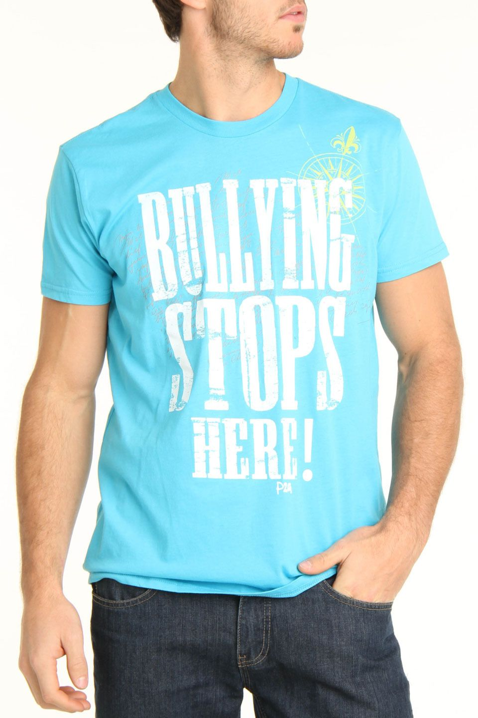 """power2gether """"Bullying Stops Here"""" T-Shirt."""