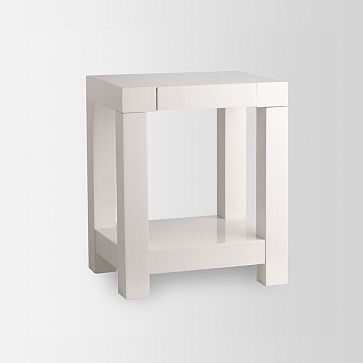 Parsons End Table White Westelm