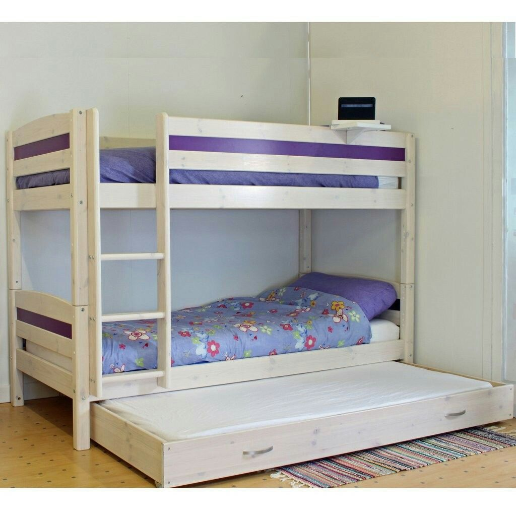 Thuka Trendy Bunk Bed C Is A Solid Pine With Storage In An Attractive Whitewash Finish To Compliment Any Room Decor
