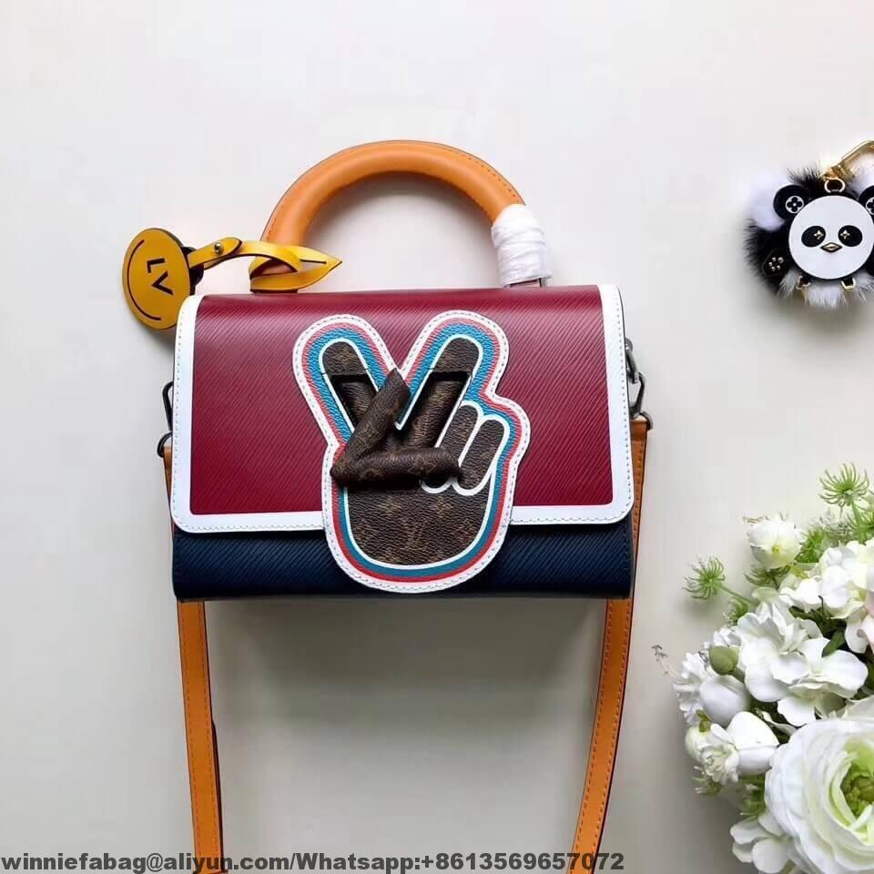 8ef4ba75894f Louis Vuitton Peace Symbol Lock Epi Leather Twist MM Bag M52514 2019 ...