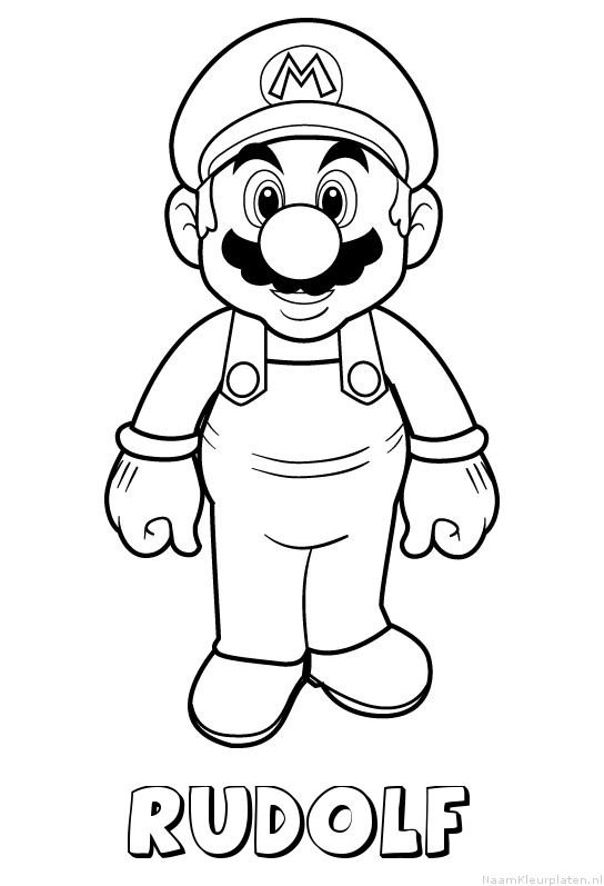Kleurplaten Mario Party 10.Rudolf Mario Kleurplaat Cartoons Mario Coloring Pages Super