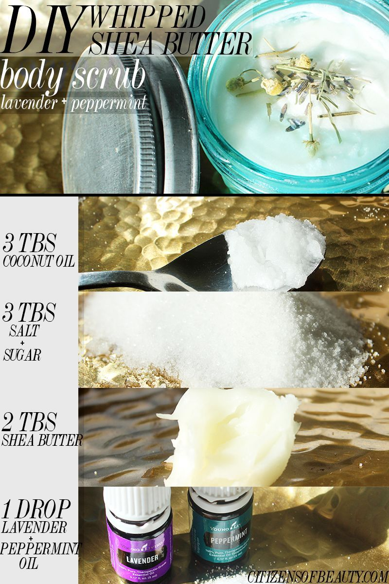 DIY Whipped Shea Butter Body Scrub with Lavender and